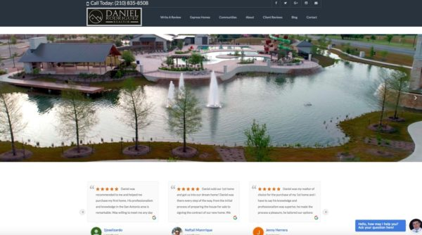 Daniel Rodriguez Realtor: Gaining Clients and Ranking on Page 1 for Preferred San Antonio Communities
