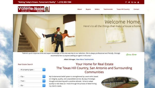 Valerie Noia Realtor: New Website to Gain Clients in Boerne Real Estate Market