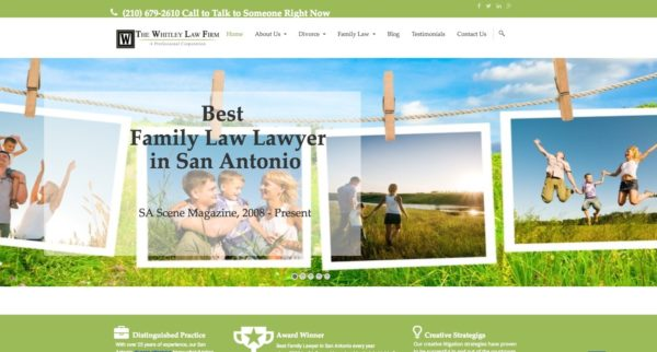 The Whitley Law Firm, PC: Rising to the Top of Google Search for Family Law