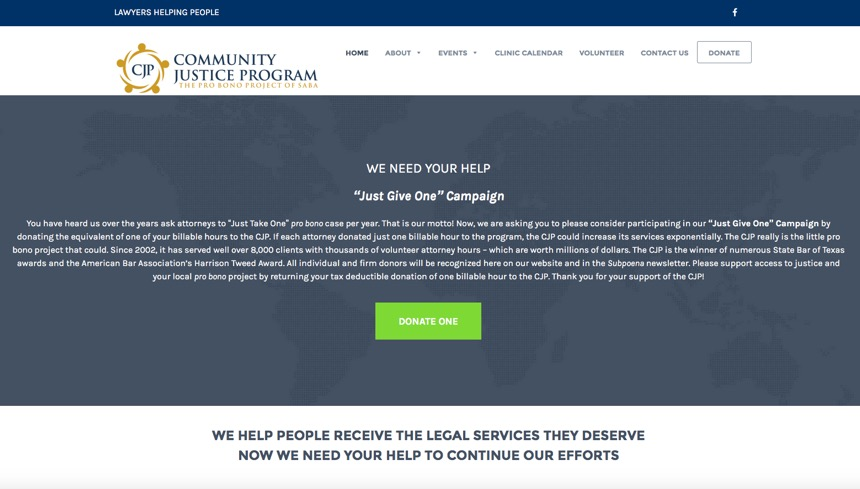 Community Justice Program: Increasing Donations and Participation for Non-Profit