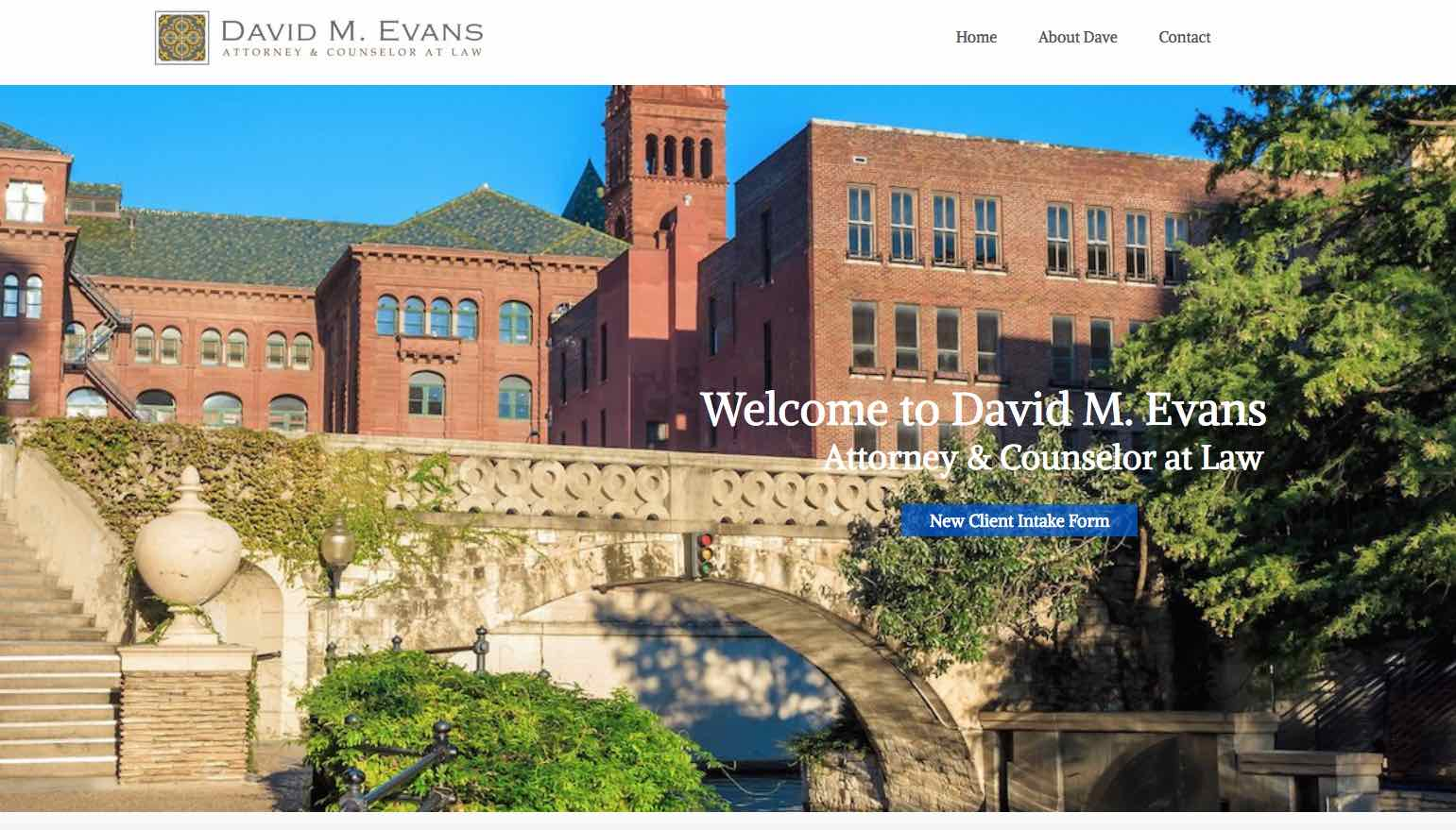 Dave Evans Attorney & Counselor at Law: Establishing an Online Brand Identity