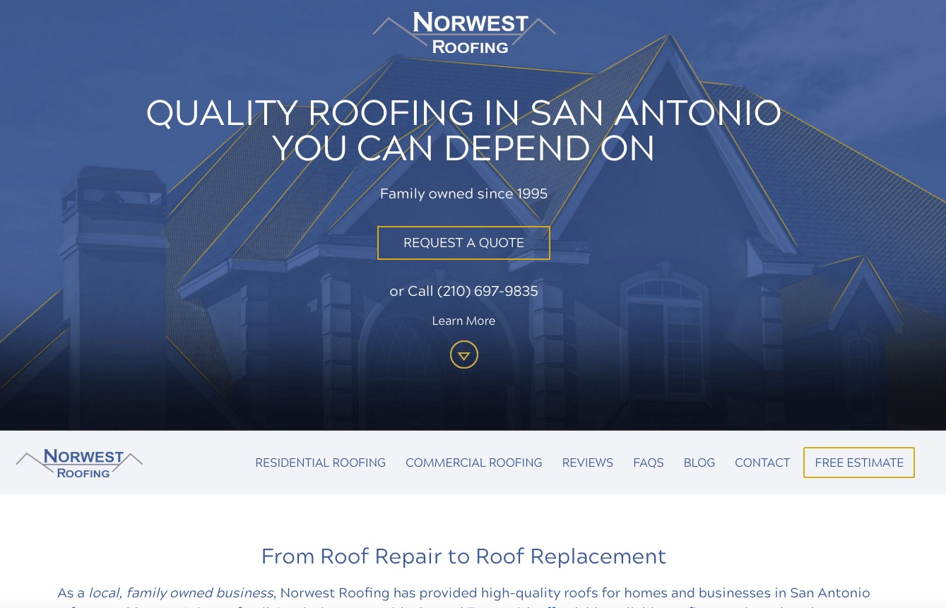 Norwest Roofing: Quality Estimates for a Premier Roofing Company in San Antonio