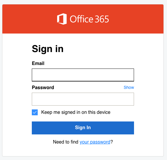 godaddy office 365 sign in page