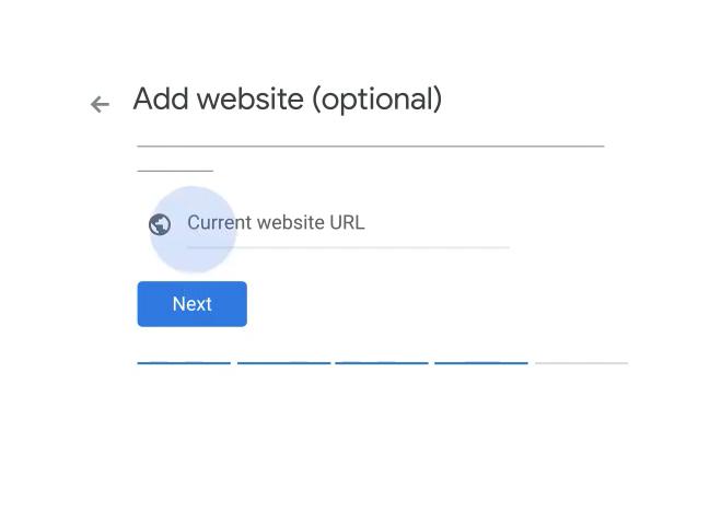 google my business add website