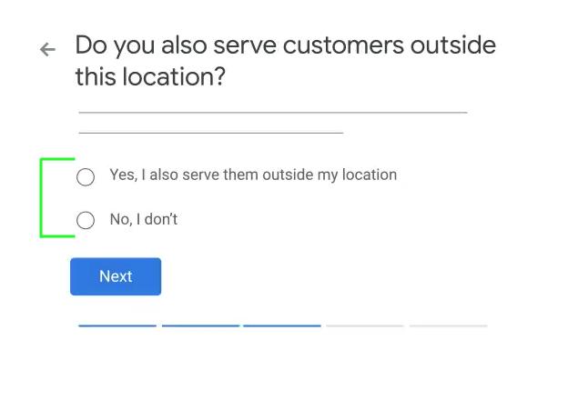 google my business service area location