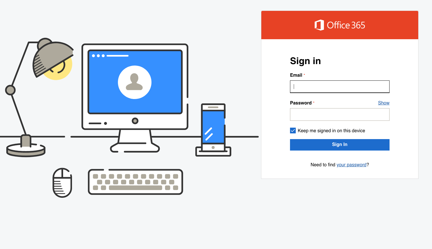 office 365 sign in page